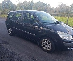 2007 Renault scenic seven seater 1.6 Petrol Tax And Test