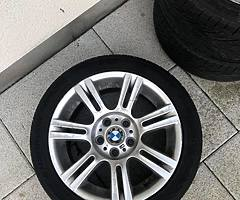 "Bmw 17"" m sport with tyres"