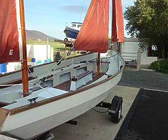 Drascombe Longboat in original condition with Yamaha 5HP outboard. Ready for the summer. Boat. Sail