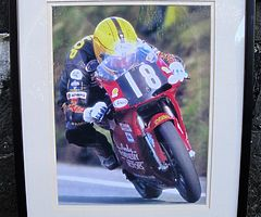 JOEY DUNLOP Framed Photo / Print Isle of Man TT NW200 Ulster Grand Prix NW 200 Motorbikes HONDA