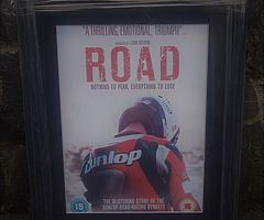 Joey Dunlop ROAD - DUNLOP Framed LARGE Print of Road Movie Poster - Isle of Man TT NW200 UGP Micky D