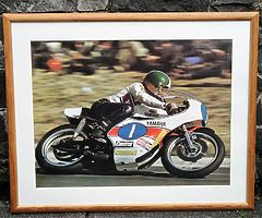 Giacomo AGOSTINI Large Framed Photo - Motorcycle Racing Isle of Man TT IOM TT Joey Dunlop Ulster GP