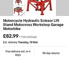 Wanted bike scissor lift