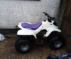 100 cc quad never gives any bother starts first kick all good tyres only reason for sale is looking