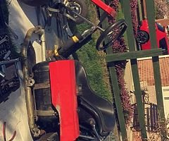 Go kart for sale needs an engine can brake or sell complete everything there would be good project f