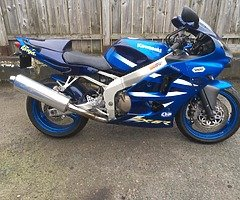 Selling a low miles zx6r. with 12 months MOT
