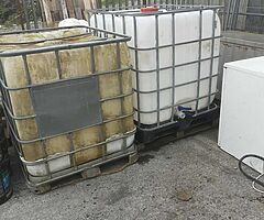 Ibc tanks oxide gray paint and water drums