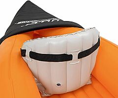Hydro-Force Rapid X2 Kayak with Oars, 2 Person Capacity, Orange