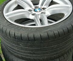 BMW alloy wheels with good tyres for sale