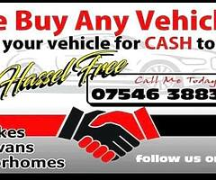 We buy any vehicles