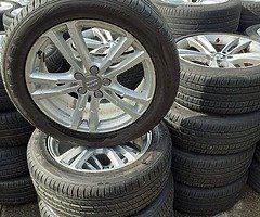 AUDI alloy wheels with good tyres for sale Q5,Q3,A6,A4