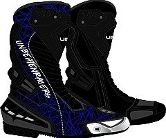 Motorbike leather riding boots