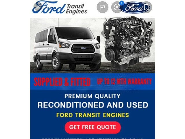 FORD TRANSIT ENGINES. FORD RANGER ENGINES. - 1/2