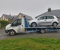 Recovery truck available to collect unwanted cars
