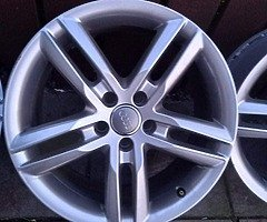 18 rs6 alloys  5x112 8j all no tyres  cheap set no crack  ör weld ' etc   and best offer  take - Image 2/10