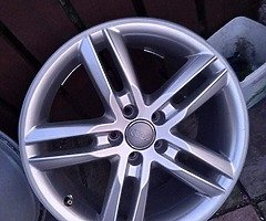 18 rs6 alloys  5x112 8j all no tyres  cheap set no crack  ör weld ' etc   and best offer  take - Image 4/10