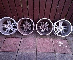 18 rs6 alloys  5x112 8j all no tyres  cheap set no crack  ör weld ' etc   and best offer  take - Image 5/10