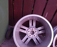 18 rs6 alloys  5x112 8j all no tyres  cheap set no crack  ör weld ' etc   and best offer  take - Image 6/10