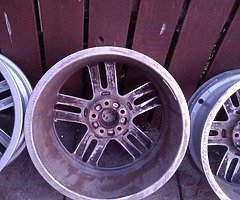 18 rs6 alloys  5x112 8j all no tyres  cheap set no crack  ör weld ' etc   and best offer  take - Image 7/10