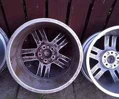 18 rs6 alloys  5x112 8j all no tyres  cheap set no crack  ör weld ' etc   and best offer  take - Image 8/10
