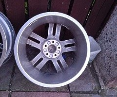 18 rs6 alloys  5x112 8j all no tyres  cheap set no crack  ör weld ' etc   and best offer  take - Image 9/10