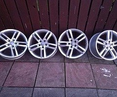 18 rs6 alloys  5x112 8j all no tyres  cheap set no crack  ör weld ' etc   and best offer  take - Image 10/10